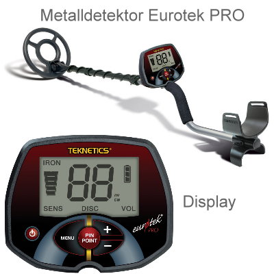 Metalldetektor Eurotek PRO (LTE)